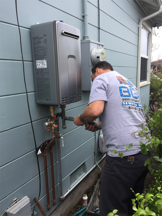 buddy griggs plumbing - a tankless water heater offers savings